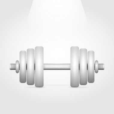 Vector illustration of a dumbbell. stock vector