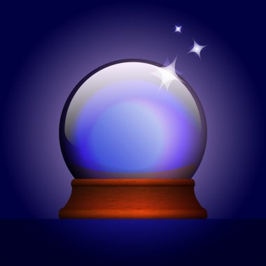Vector illustration of magic ball. stock vector