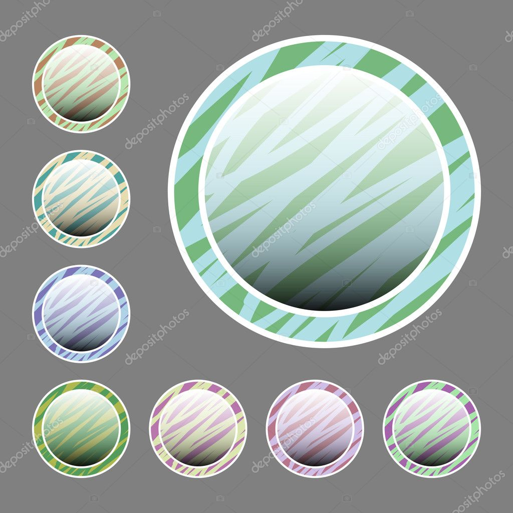 Vector set of buttons. stock vector
