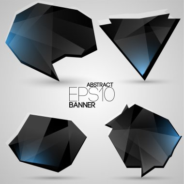 Vector set of futuristic banners. stock vector