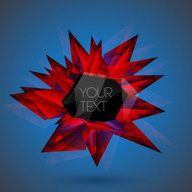 Vector red crystal background. stock vector