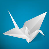 Origami stork. Vector illustration.