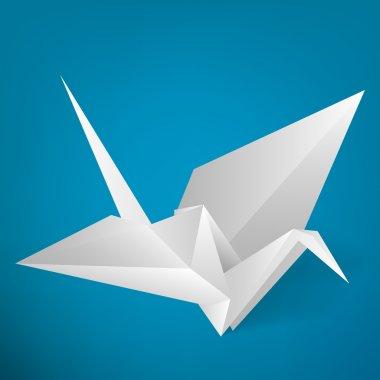 Origami stork. Vector illustration. stock vector