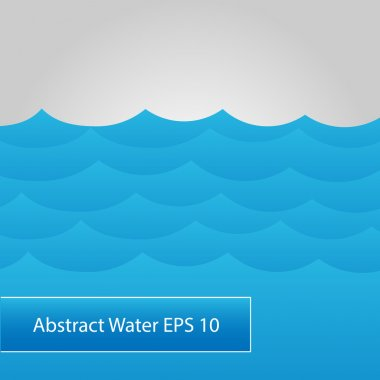 Abstract water. Vector background. stock vector