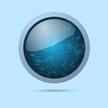 Vector modern web button. stock vector