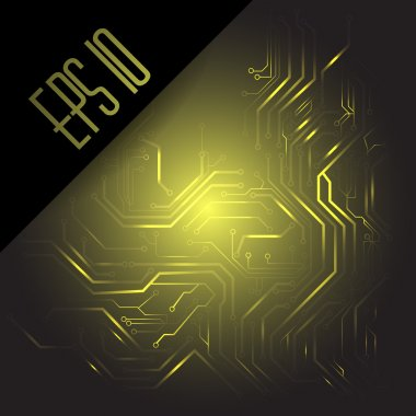 Circuit board. Vector background stock vector