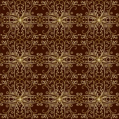 Vector vintage gold background. stock vector