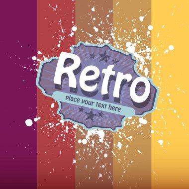 Vector retro colorful background. stock vector