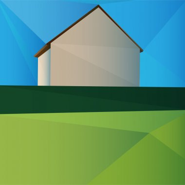 Vector illustration of a house. stock vector