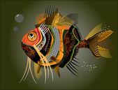 Abstrakter Fisch. Vektorillustration