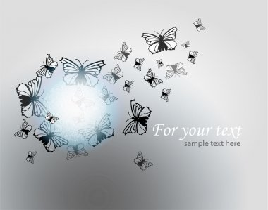 Vector background with butterflies. stock vector
