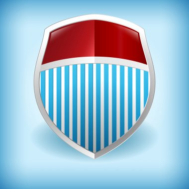 Vector illustration of a shield. stock vector