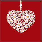 Vector greeting card with floral heart.