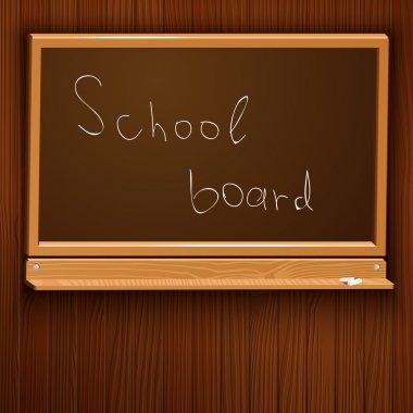 Vector illustration of a school blackboard. stock vector