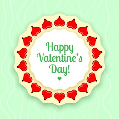 Vector greeting card for Valentine's day. stock vector