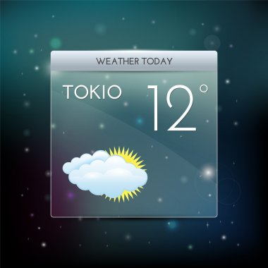 Vector weather widget. Vector illustration. stock vector