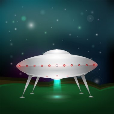 Unidentified flying object. Vector illustration. stock vector