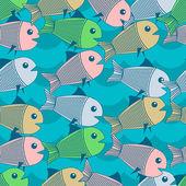 Vektor Hintergrund mit Fischen.