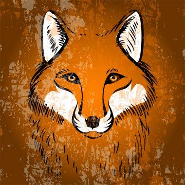 Red fox. Vector illustration. stock vector