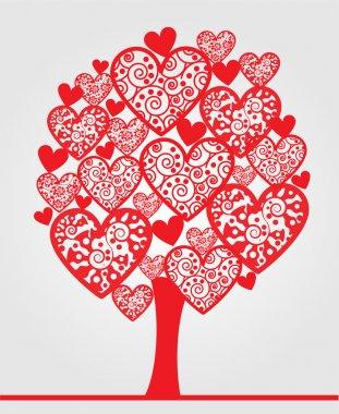 Love tree made of hearts. stock vector