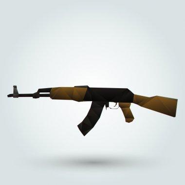 Kalashnikov automatic rifle. Vector illustration stock vector