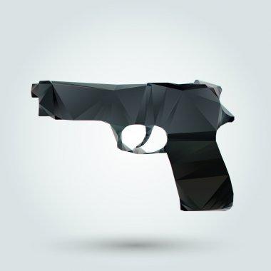 Abstract gun. Vector illustration stock vector