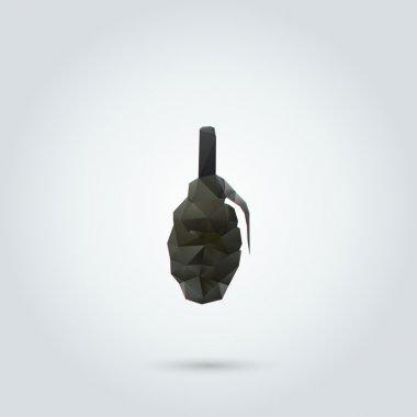 Abstract manual grenade. Vector illustration stock vector