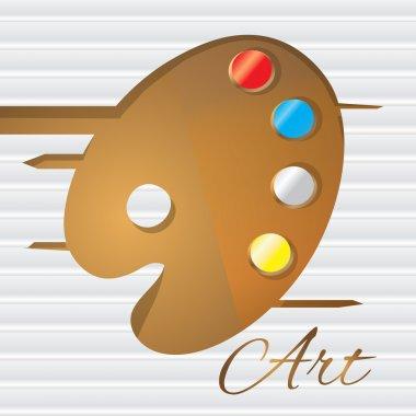 Artistic palette. Vector illustration. stock vector