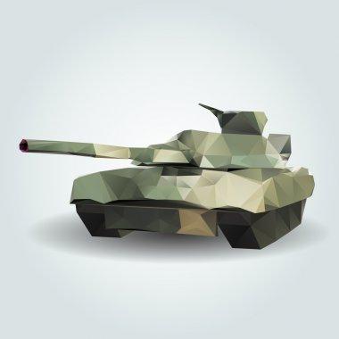 Abstract tank. Vector illustration. stock vector