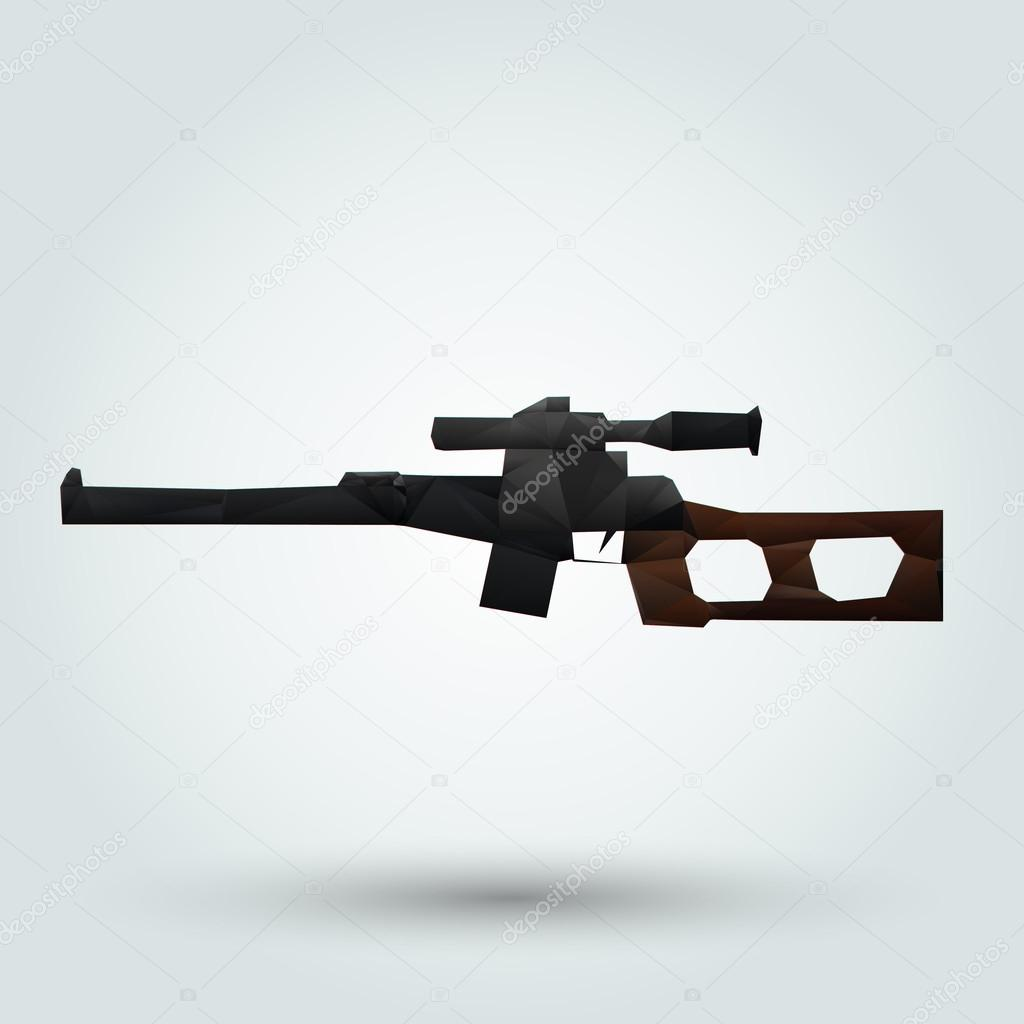 Abstract rifle with a telescopic sight. Vector illustration stock vector