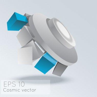 Vector abstract cosmic background. stock vector