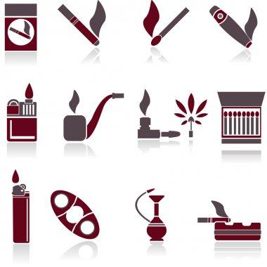 Smoking Icons. Vector illustration. stock vector