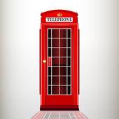 anglické červené telefonní budky. vektorové ilustrace.