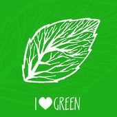 Vektorökologie-Zeichen. ich liebe grün.
