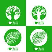 vektor znamení ekologie. Mám rád zelené.