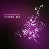 Vector abstract floral background.