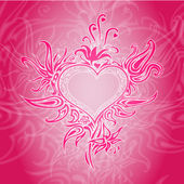 Vector background with abstract heart.