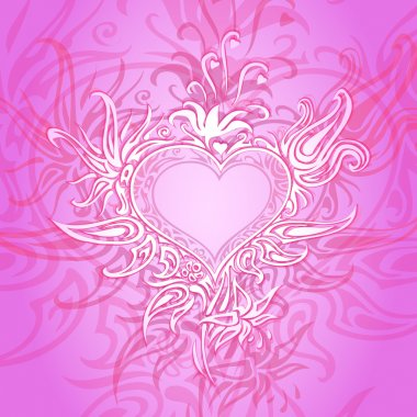 Vector background with abstract heart. stock vector