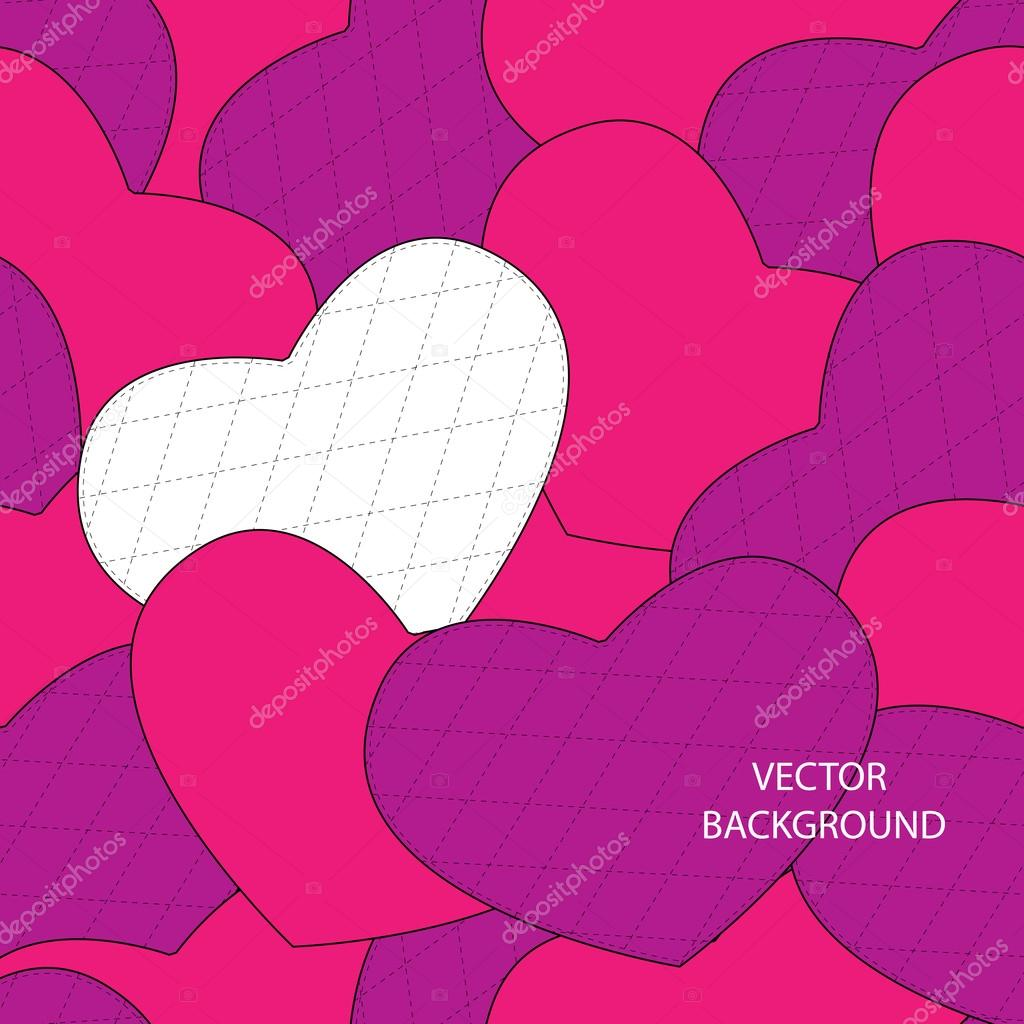 Valentine's day background with hearts. stock vector