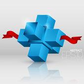 vektorové pozadí abstraktní s kostkami.