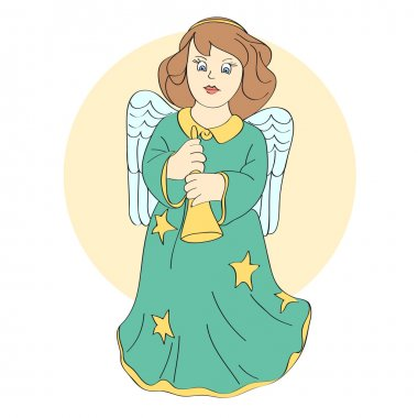 Vector cute angel. Vector illustration. stock vector