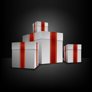 Vector illustration of gift boxes. stock vector