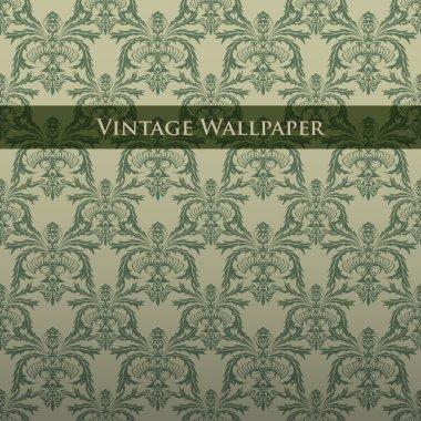 Vector vintage wallpaper. Vector illustration. stock vector