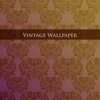 Vector vintage wallpaper. Vector illustration. stock vector