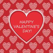 vektorové karta s blahopřání pro den svatého Valentýna.