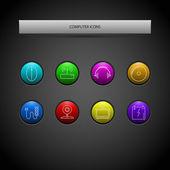 Vektor-Set von Computersymbolen.
