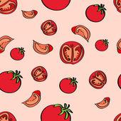 Vektorhintergrund mit Tomaten.