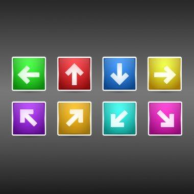 Vector set of arrows buttons. stock vector