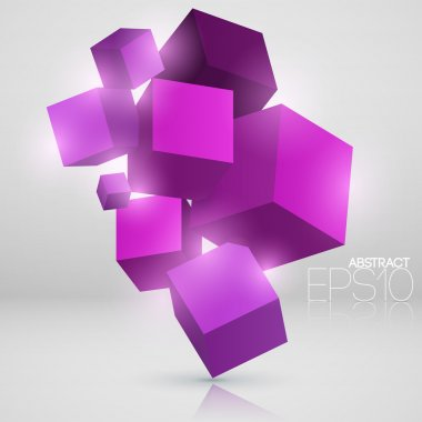 Vector abstract background with cubes. stock vector