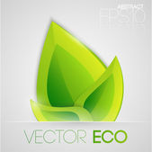 Vector eco leaves. Vector illustration.